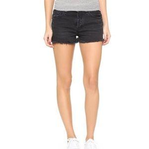 Free People Cutoff Black Jean Shorts
